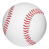 Baseball ball. Baseball isolated on white with clipping path Royalty Free Stock Image
