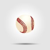 Baseball ball isolated on white with shadow Royalty Free Stock Photography