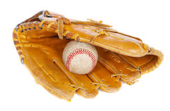 Baseball ball and mit Stock Photography