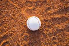 The baseball ball on pitchers mound Royalty Free Stock Images