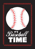 Baseball ball and quote poster Royalty Free Stock Photography