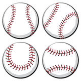 Baseball Ball Set Royalty Free Stock Image