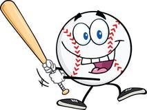 Baseball Ball Swinging A Baseball Bat