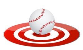 Baseball ball target concept Royalty Free Stock Photos