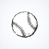 Baseball Ball. Vector Drawing Stock Photography