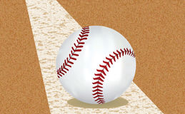 Baseball ball. Vector on a field Royalty Free Stock Photos