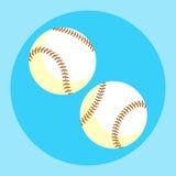 Baseball-Ballikone Bunter Baseballball auf einem blauen Hintergrund Ein Ski Auch im corel abgehobenen Betrag Lizenzfreie Stockfotografie