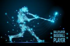 Baseball ballplayer polygonal Royalty Free Stock Photo