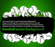 Baseball balls background Royalty Free Stock Photography