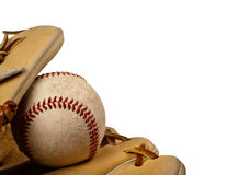 baseball balowa rękawiczka Fotografia Royalty Free