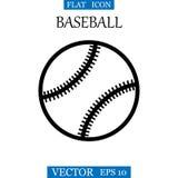 Baseball Balowej ikony logo projekta Wektorowy szablon czarny white royalty ilustracja
