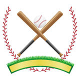 Baseball banner emblem vector illustration Stock Photography
