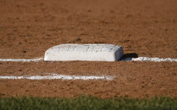 Baseball base closeup Royalty Free Stock Photos