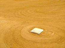 Baseball Base in the Infield of a Baseball Field Stock Photography