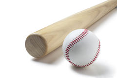 Baseball and baseball bat Stock Photo