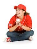 Baseball: Baseball - Fan-Lachen Lizenzfreies Stockfoto
