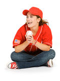 Baseball: Baseball Fan Laughing Royalty Free Stock Photo