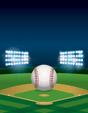 Baseball on Baseball Field Illustration Royalty Free Stock Images