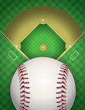 Baseball and Baseball Field Illustration Stock Image