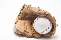 Baseball and Baseball Glove Royalty Free Stock Photos