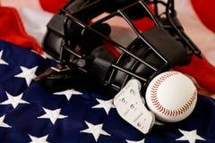 Baseball: Baseball- och domareutrustning Arkivfoton