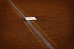 Baseball Baseline with Base Chalk Line Diamond royalty free stock photography