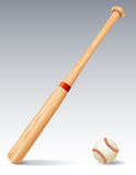 Baseball bat. Vector illustration - Baseball bat and ball vector illustration