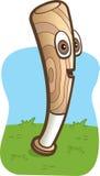 Baseball Bat. A smiling wooden baseball bat on grass Stock Image