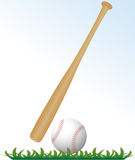 Baseball and bat Royalty Free Stock Image