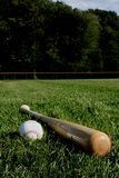 Baseball and bat Stock Images