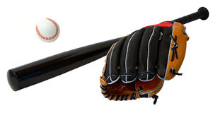 Baseball Bat,Ball and Glove Stock Image