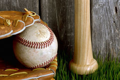 Baseball ,bat and ball. Stock Photos
