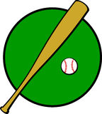 Baseball bat and ball vector illustration Stock Photo