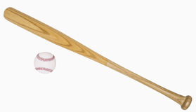 Baseball Bat and Baseball Royalty Free Stock Image