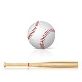 Baseball bat and baseball Royalty Free Stock Photo