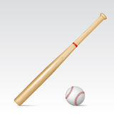Baseball bat and baseball Royalty Free Stock Images