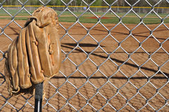 Baseball Bat and Glove Stock Photos