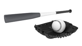 Baseball bat and glove Stock Image