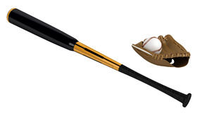 Baseball bat and glove Royalty Free Stock Image