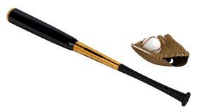 Baseball bat and glove Royalty Free Stock Image
