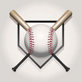 Baseball, Bat, Homeplate Illustration Stock Photo