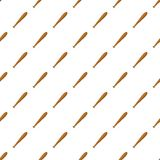 Baseball bat pattern, cartoon style. Baseball bat pattern. Cartoon illustration of baseball bat vector pattern for web Stock Photos