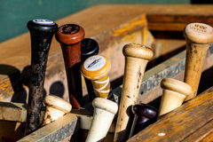Baseball Bat Rack. Royalty Free Stock Images