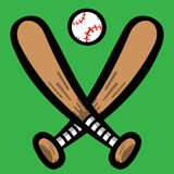 Baseball Bat. A vector illustration of a baseball bat Royalty Free Stock Image