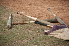 Baseball bats. In a bag Stock Photo