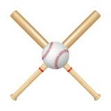 Baseball bats and ball Stock Images