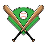 Baseball Bats and Ball Royalty Free Stock Photo