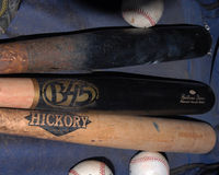 Baseball Bats And Baseballs. stock image