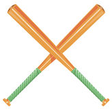 Baseball bats crossed Royalty Free Stock Photography
