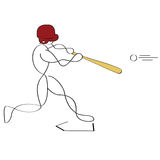 Baseball batter Stock Photography